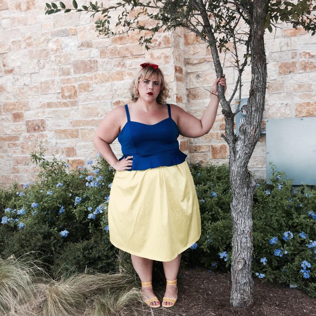plus size fashion blog plus size disney inspired looks snow white 2