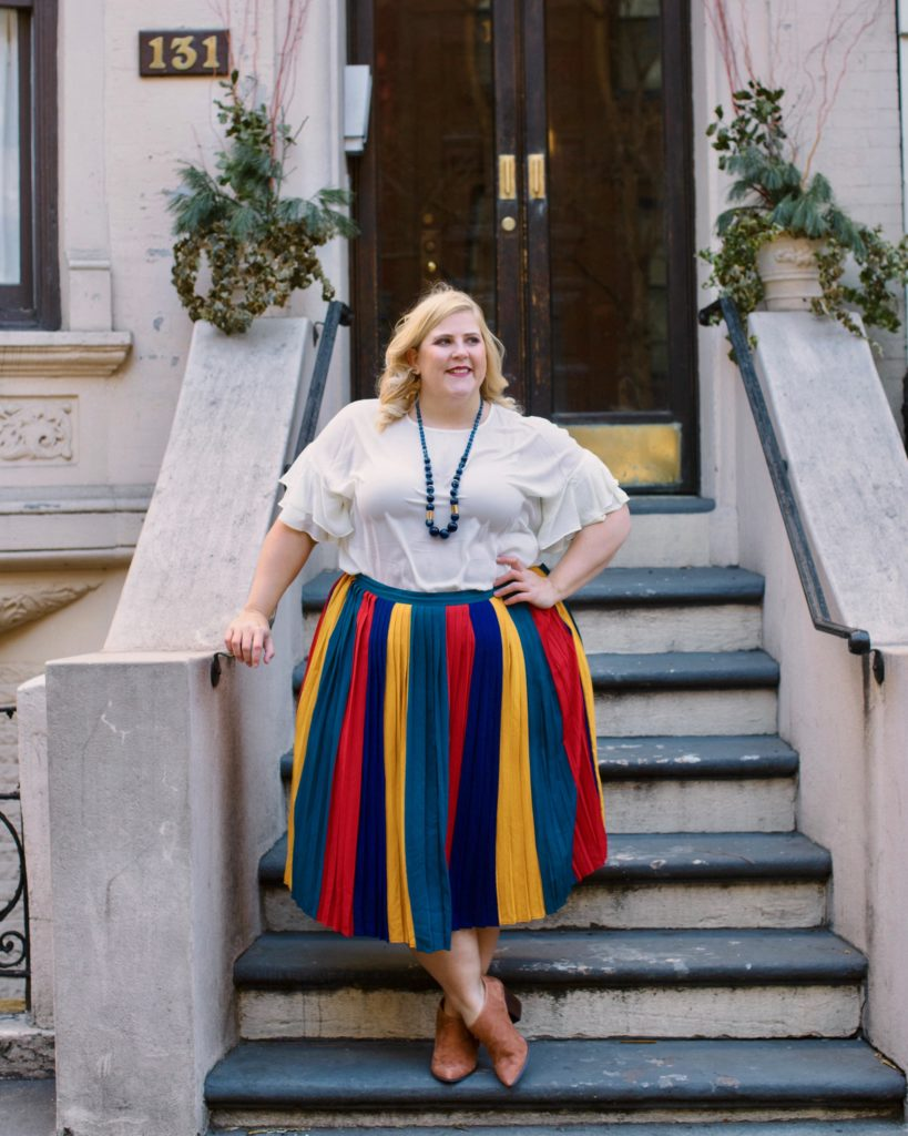 """f9204c83c7 Personally, I wear color because it feels rebellious. As a plus size woman,  for years I've been told to hide- to avoid colors. """"Dark clothing will slim  your ..."""